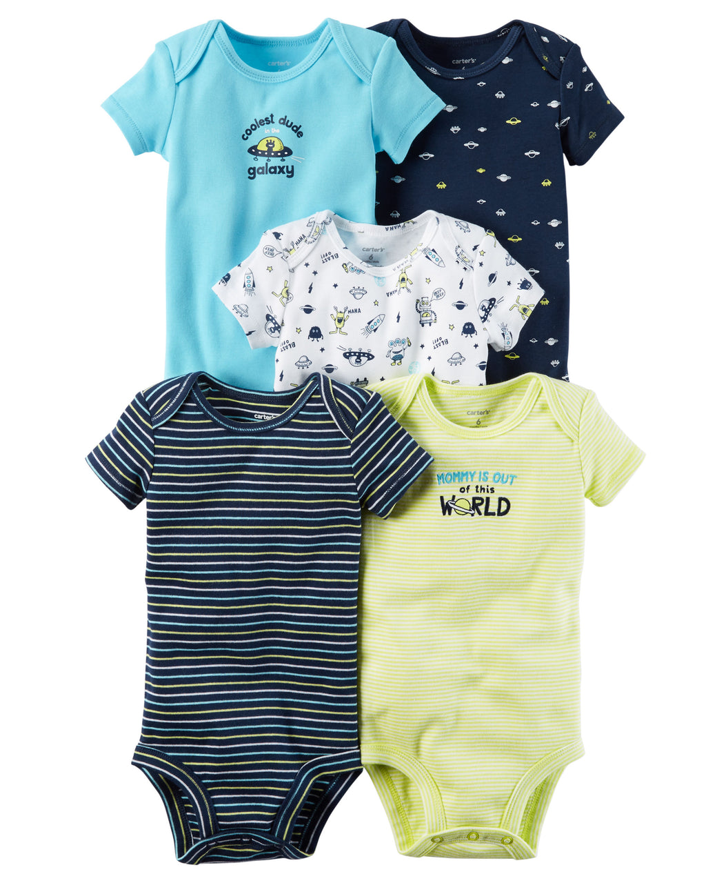 Pack de Bodys CARTERS 5-Pack Short-Sleeve Original Bodysuits