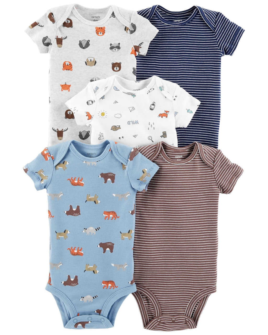 Pack de Bodys CARTERS 5-Pack Animal Original Bodysuits