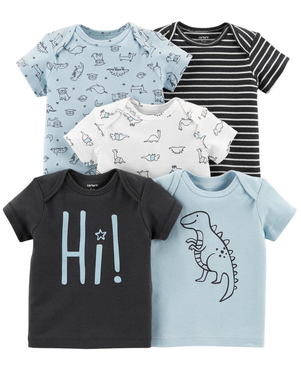 Pack de remeras CARTERS 5-Pack Short-Sleeve Tees