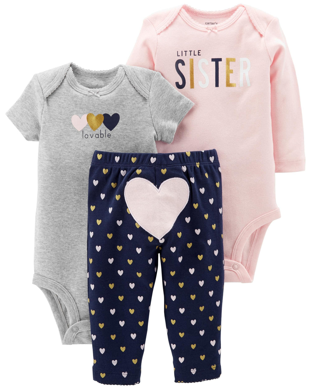 Conjunto CARTERS 3-Piece Little Character Set