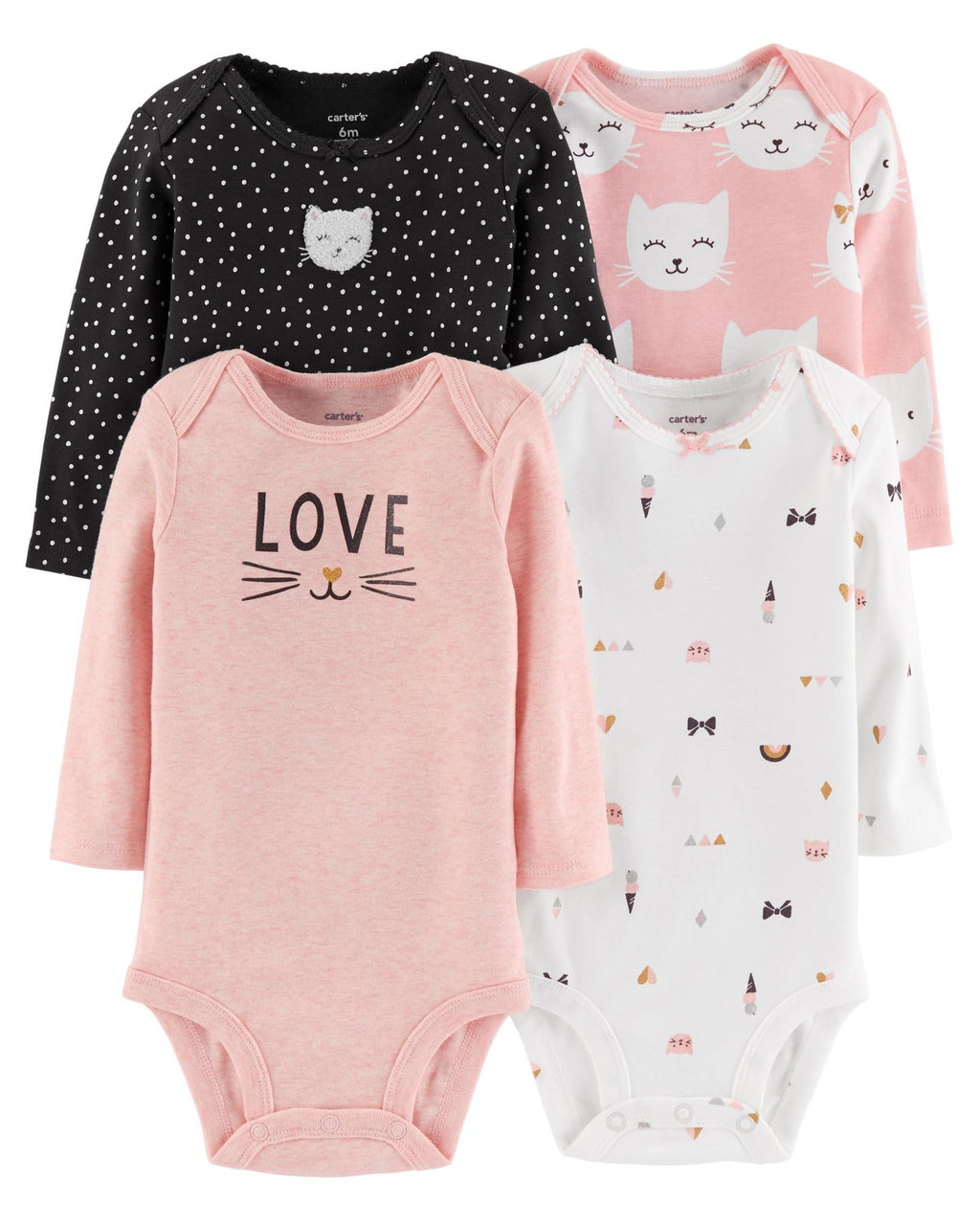 Pack de bodys CARTERS 4-Pack Long-Sleeve Original Bodysuits