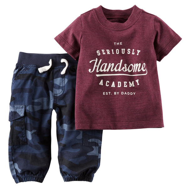 Conjunto CARTERS 2-Piece Tee & Pant Set