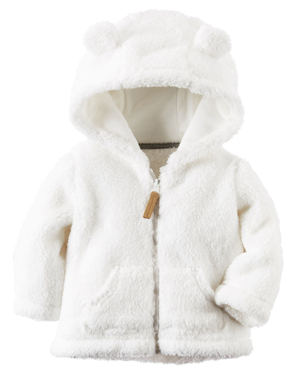 Campera CARTERS Hooded Sherpa Zip-Front Jacket