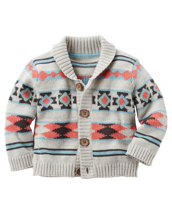 Cardigan CARTERS Printed Button-Front Shawl