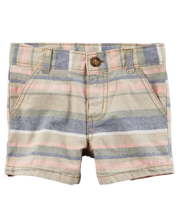 Bermuda CARTERS Striped Flat-Front Twill Shorts