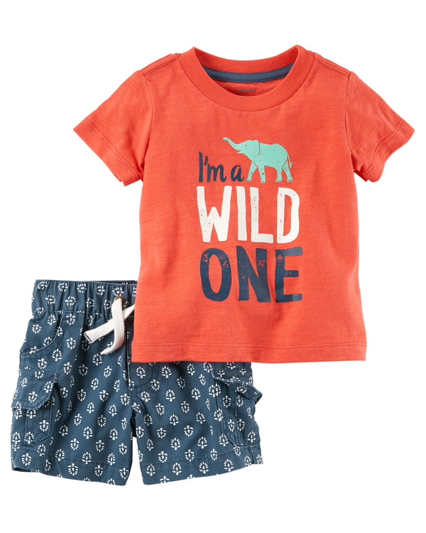 Conjunto CARTERS 2-Piece Graphic Tee & Short Set