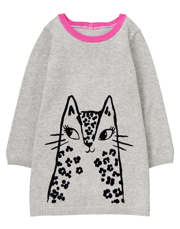 Vestido GYMBOREE Leopard Sweater Dress