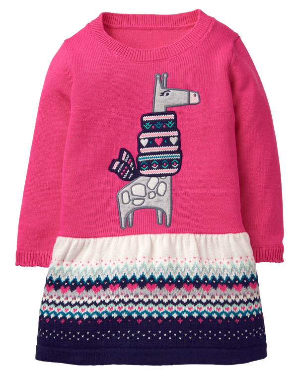 Vestido GYMBOREE Giraffe Sweater Dress