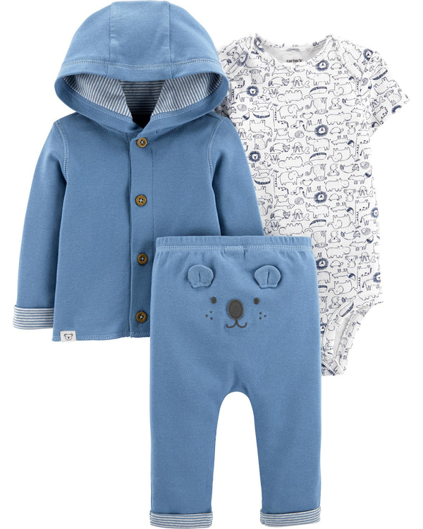 Conjunto CARTERS 3-Piece Koala Little Cardigan Set