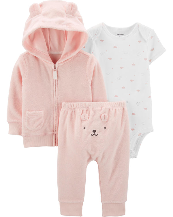 Conjunto CARTERS 3-Piece Terry Little Jacket Set