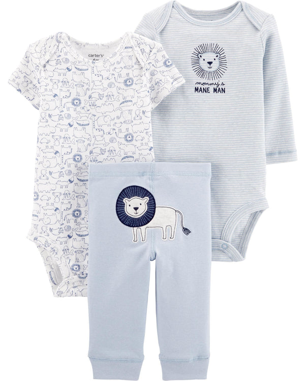 Conjunto CARTERS 3-Piece Lion Little Character Set