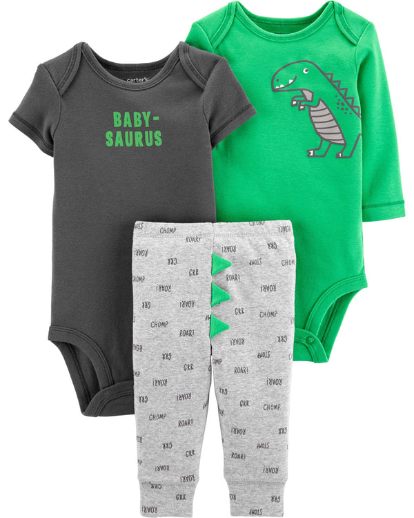 Conjunto CARTERS 3-Piece Dinosaur Little Character Set