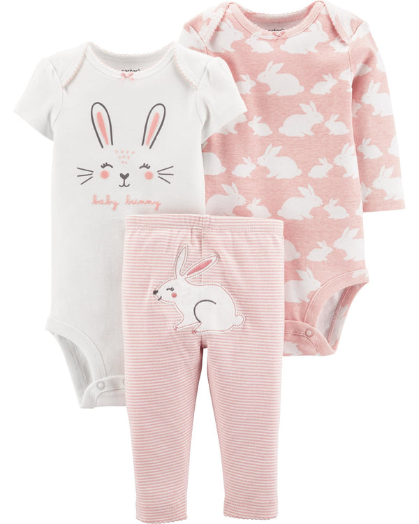 Conjunto CARTERS 3-Piece Bunny Little Character Set