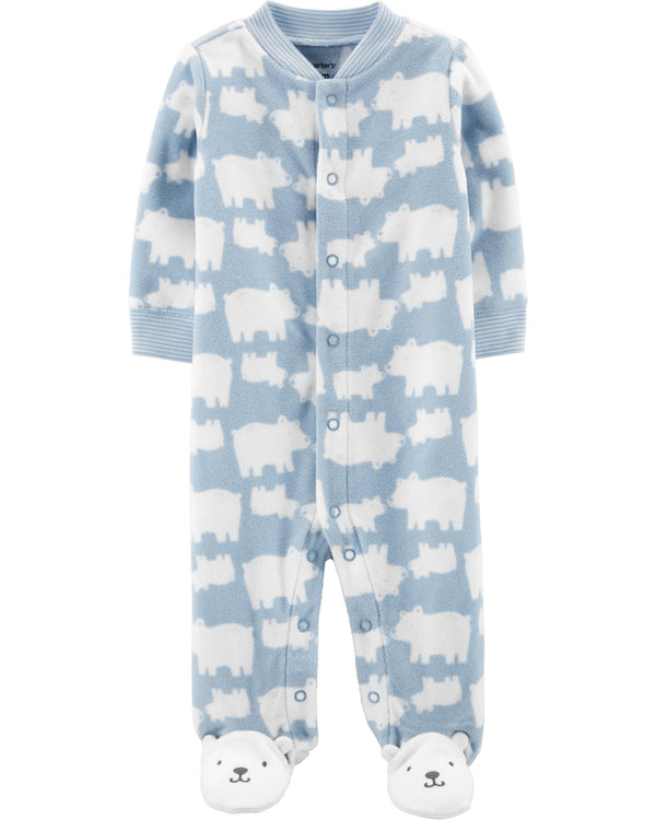 Enterito CARTERS Polar Bear Snap-Up Fleece Sleep & Play
