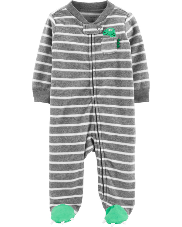 Enterito CARTERS Dinosaur Zip-Up Fleece Sleep & Play
