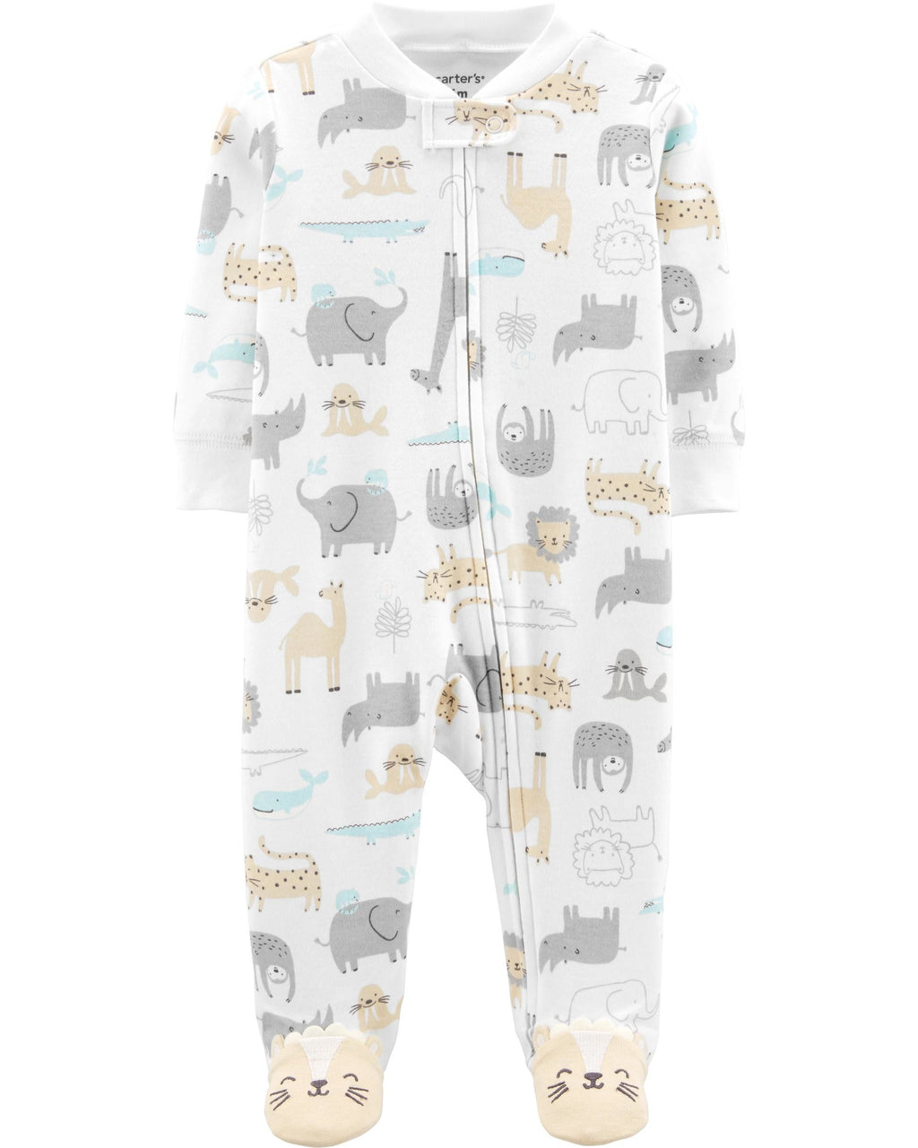 Enterito CARTERS Safari Animal Zip-Up Cotton Sleep & Play