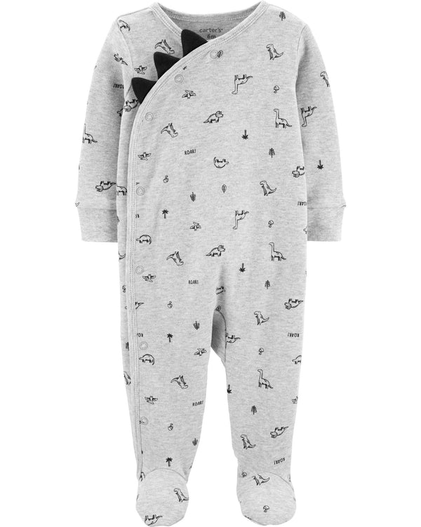 Enterito CARTERS Dinosaur Side-Snap Cotton Sleep & Play