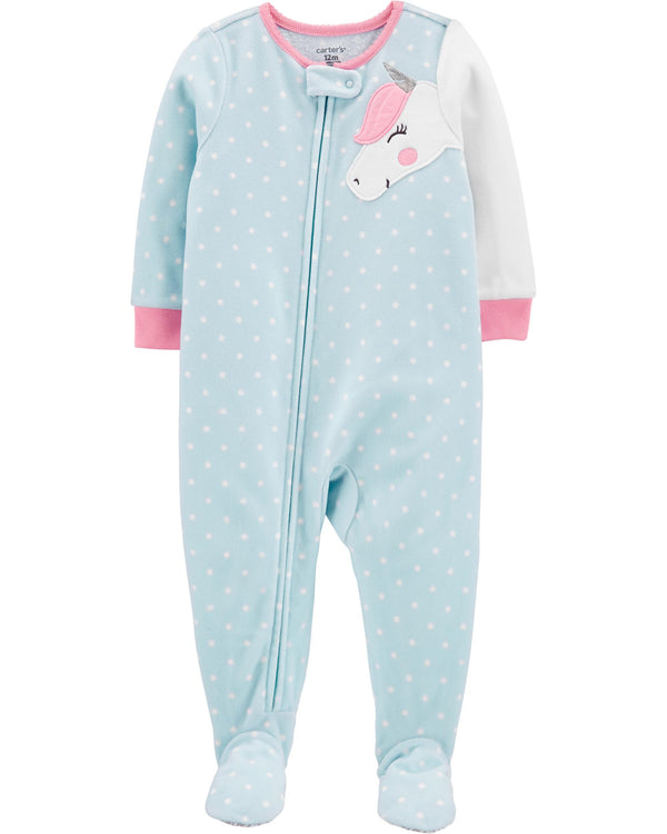 Pijama CARTERS 1-Piece Unicorn Fleece Footie PJs