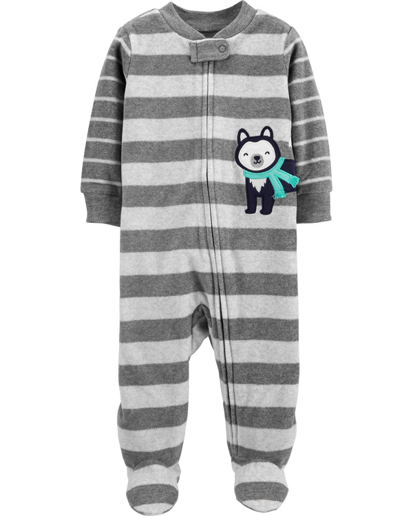 Enterito CARTERS Husky Zip-Up Fleece Sleep & Play