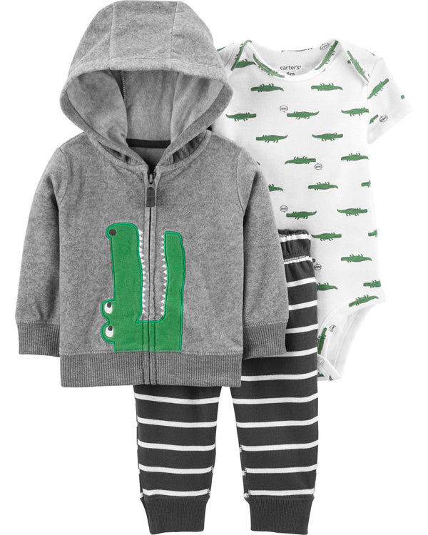 Conjunto CARTERS 3-Piece Alligator Little Jacket Set