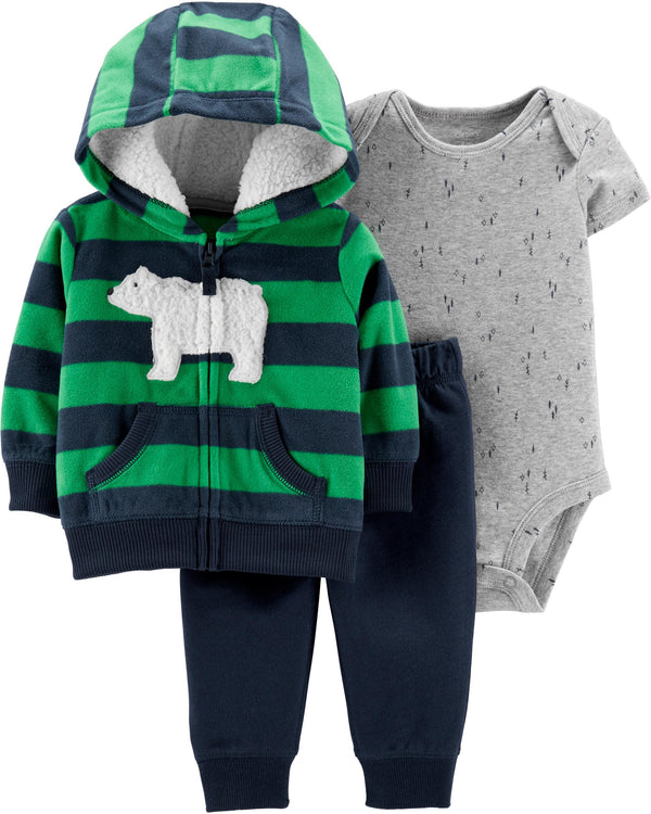 Conjunto CARTERS 3-Piece Polar Bear Little Jacket Set