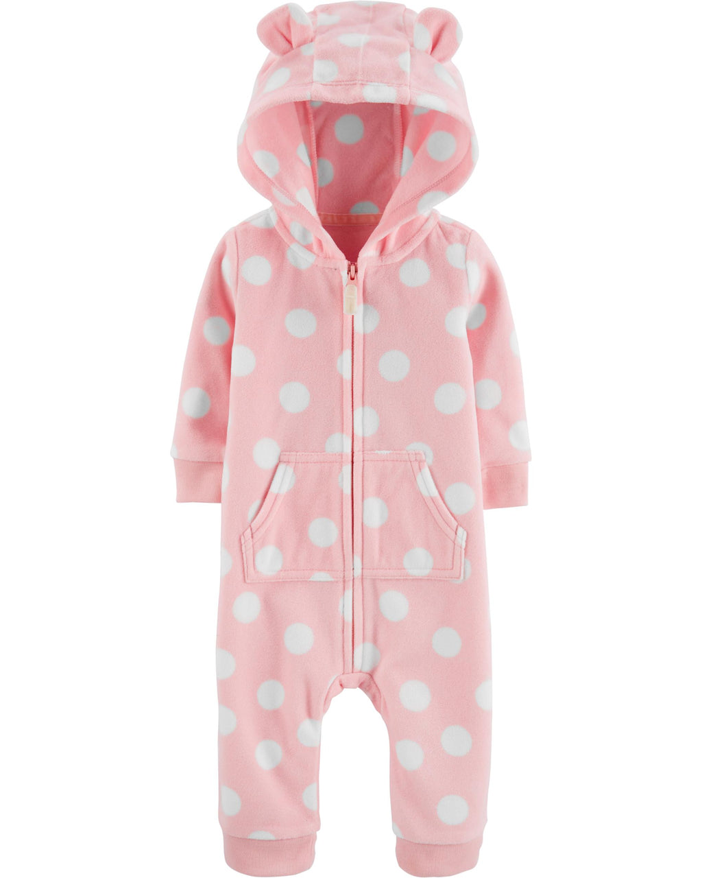 Enterito CARTERS Hooded Polka Dot Jumpsuit