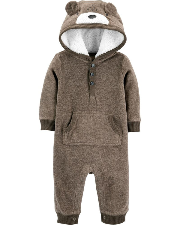 Enterito CARTERS Hooded Bear Fleece Jumpsuit