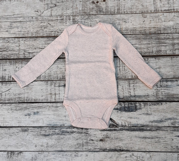 Body CARTERS Original Bodysuits Rayado Rosa & Gris