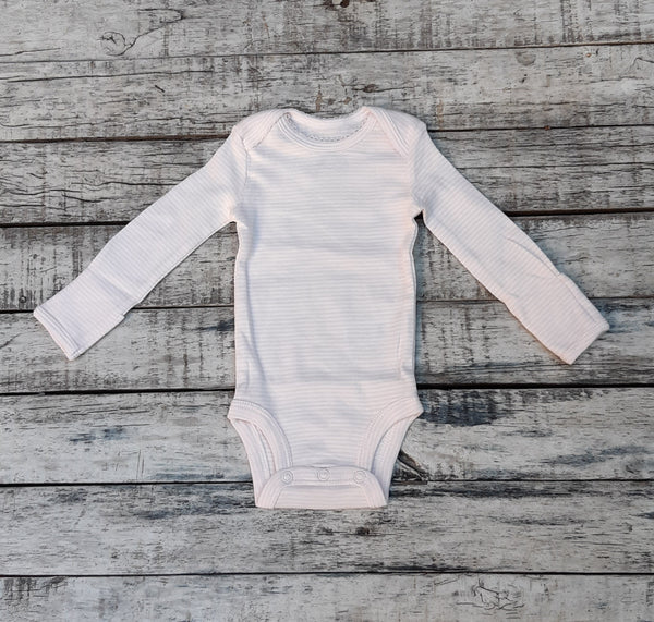 Body CARTERS Original Bodysuits Rayado rosa & blanco