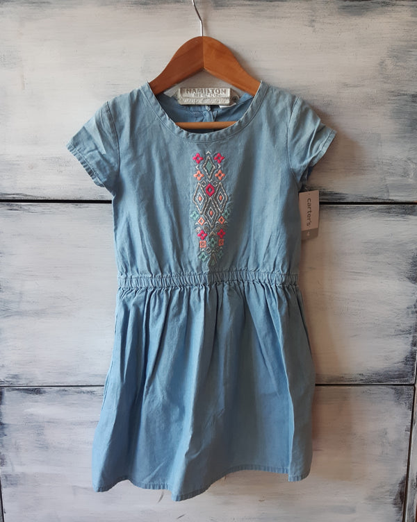 Vestido CARTERS  Demin Jeans con bordado  Dress