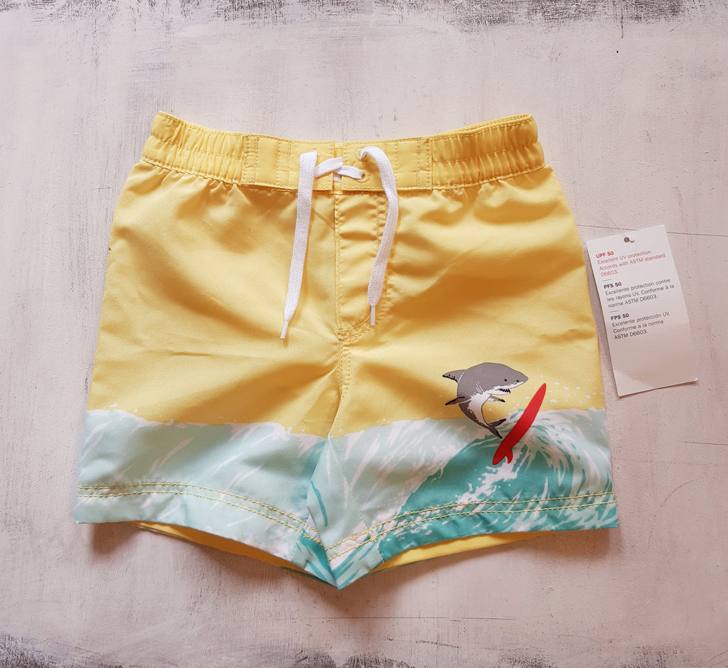 Malla con Filtro Solar + 50  OLD NAVY Graphic Rashguard & Printed Swim Trunks Set