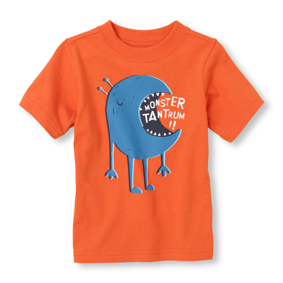 Remera Childrens Place Monster Tantrum Graphic Tee ( outlet )