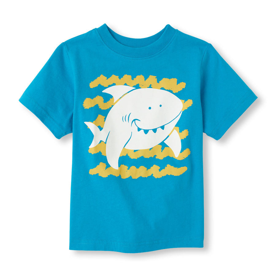 Remera Childrens Place Glow-In-The-Dark Shark Graphic Tee