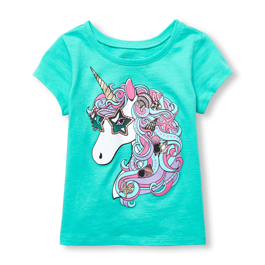 Remera THE CHILDRENS PLACE Glitter Unicorn Graphic Tee