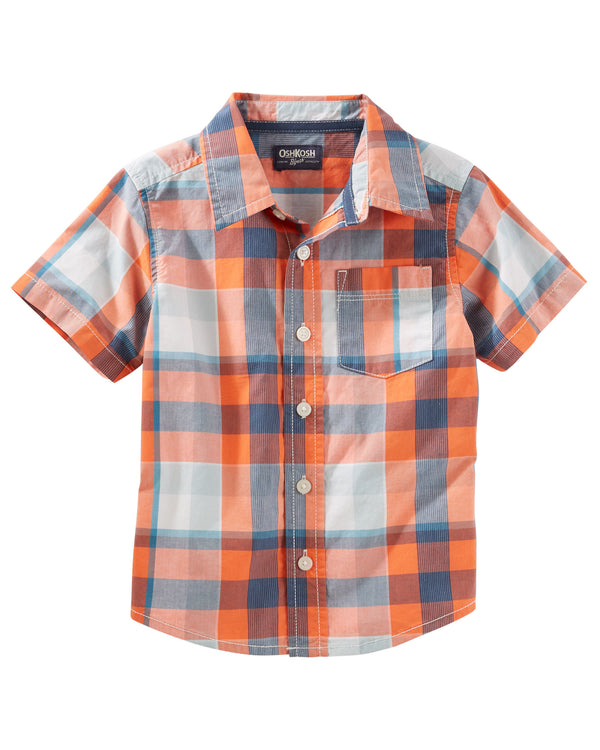 Camisa OSHKOSH Plaid Button-Front Shirt