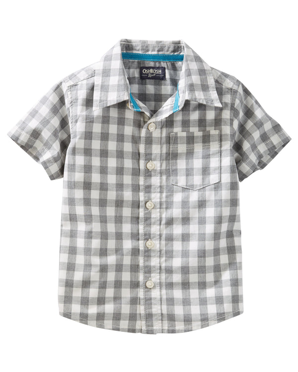 Camisa OSHKOSH Checkered Button-Front Shirt