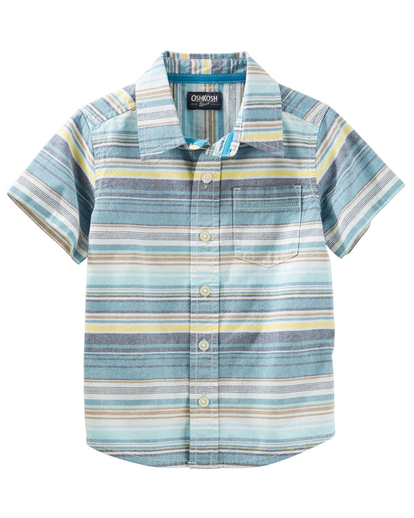 Camisa OSHKOSH Striped Button-Front Shirt