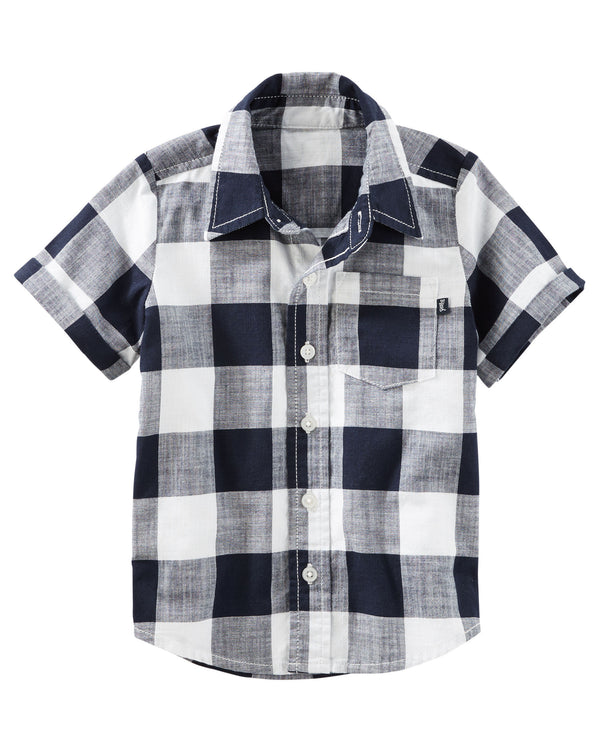 Camisa OSHKOSH Buffalo Check Button-Front Shirt