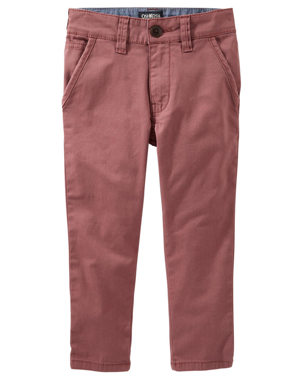 Pantalon OSHKOSH Slim-Stretch Flat Front Twills