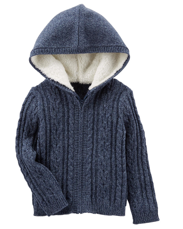 Campera OSHKOSH Hooded Cable Knit Jacket