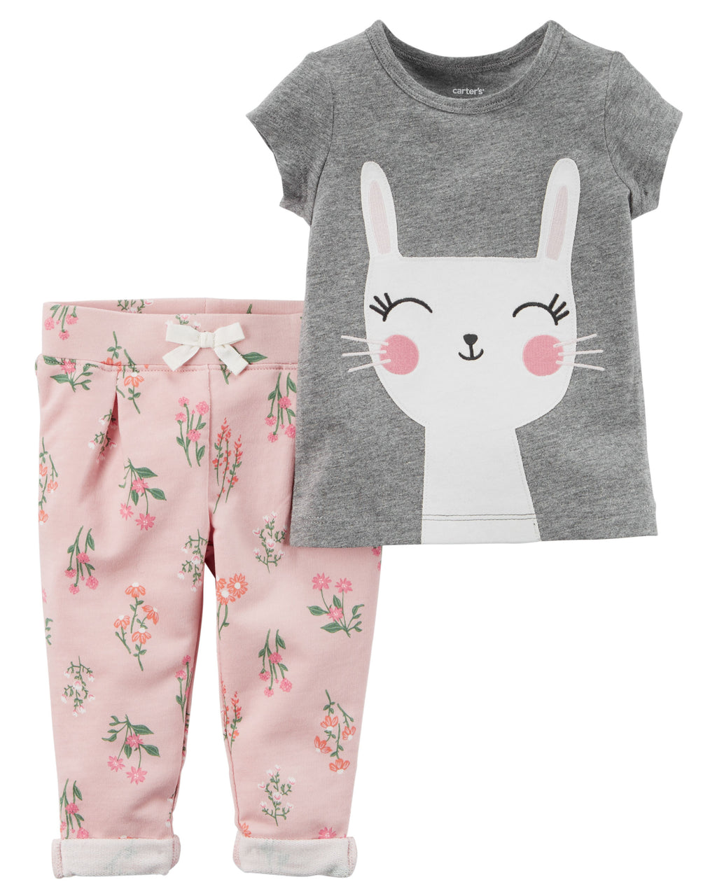 Conjunto CARTERS 2-Piece Bunny Tee & French Terry Pant Set