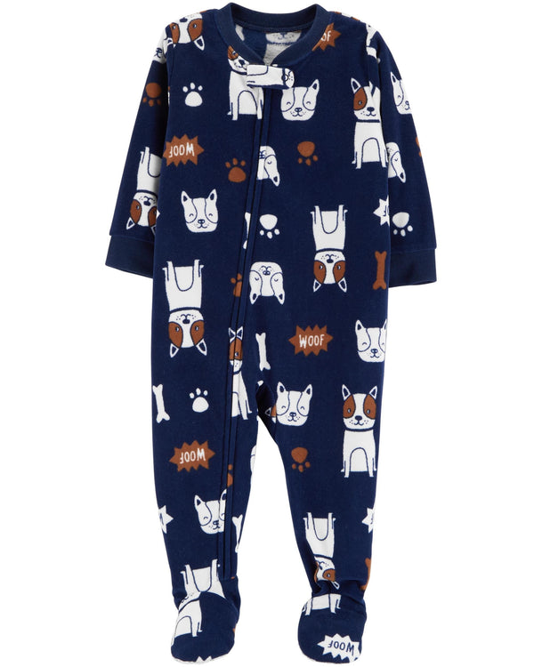 Pijama CARTERS 1-Piece Dog Fleece PJs