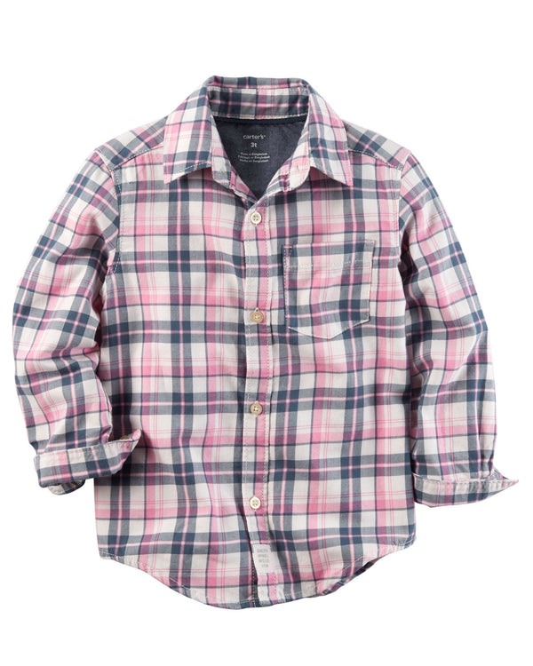Camisa CARTERS Plaid Button-Front Shirt