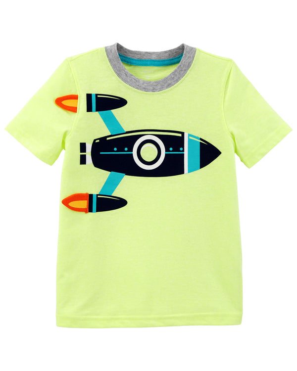 Remera CARTERS Neon Rocket Ship Tee