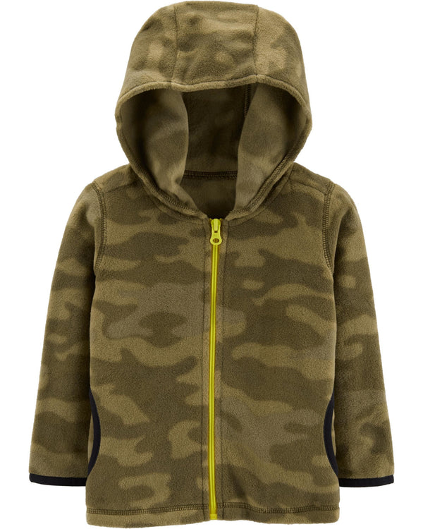 Buzo CARTERS Camo Zip-Up Fleece Hoodie
