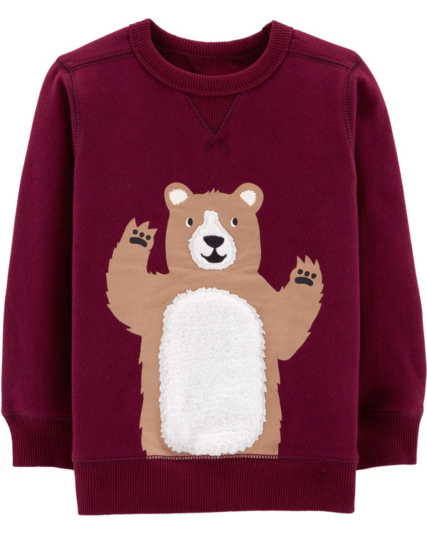 Buzo CARTERS Bear Fleece Sweatshirt ( frisado )