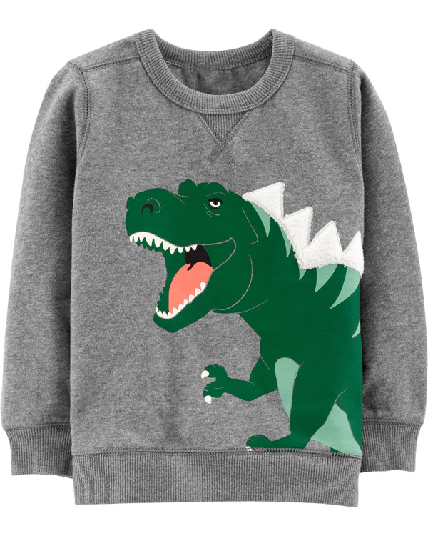 Buzo CARTERS Dinosaur Fleece Sweatshirt