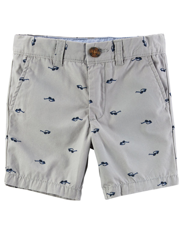 Bermuda CARTERS Printed Flat-Front Canvas Shorts