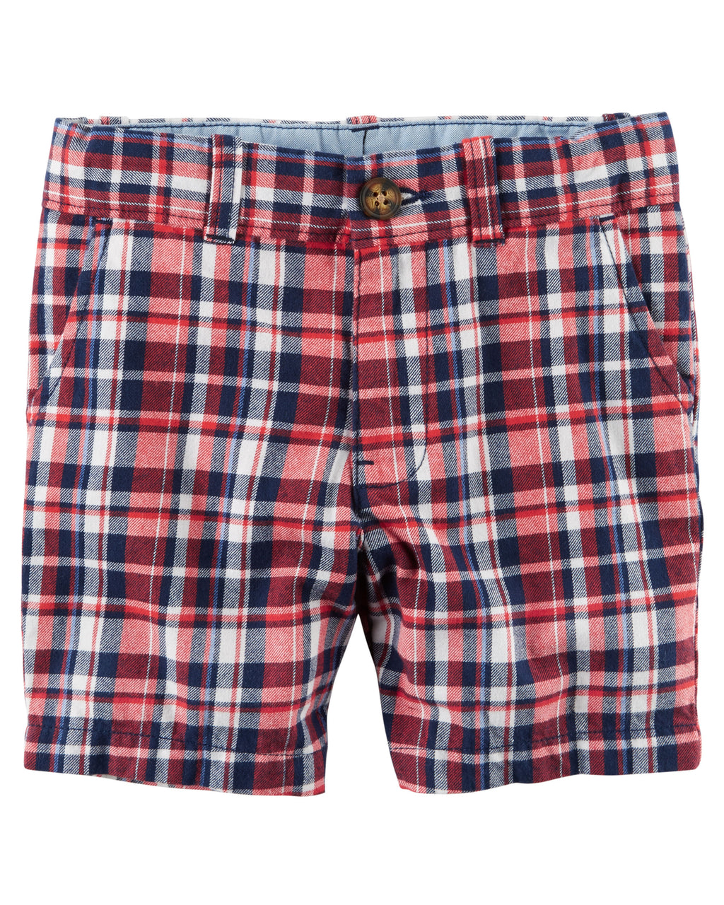 Shorts CARTERS Plaid Flat-Front Shorts