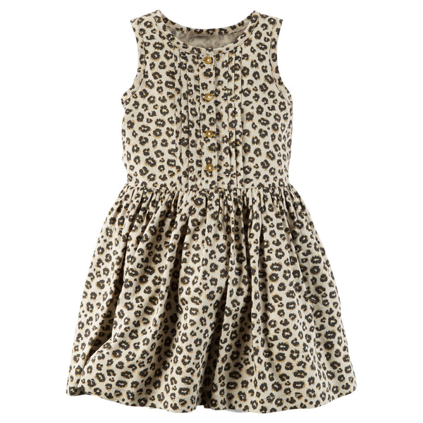 Vestido CARTERS Leopard Print Dress